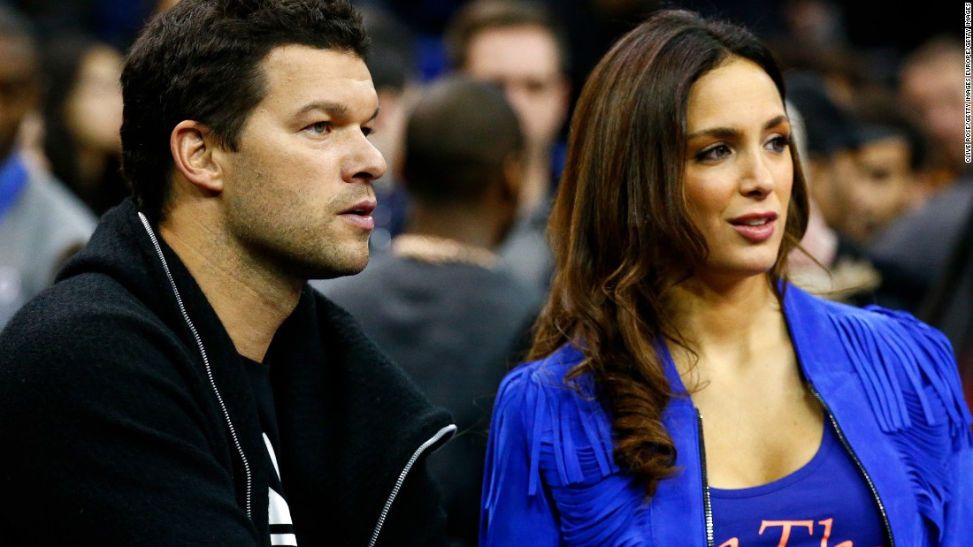 Drogba's former teammate Michael Ballack was also in attendance, pictured here with his girlfriend, Natacha Tannous. <br />Fellow Blues Eden Hazard, Thibaut Courtois and Loic Remy were courtside, following their 2-2 draw with West Bromwich Albion. Meanwhile Olivier Giroud, Alex Oxlade-Chamberlain and club legend Robert Pires ensured Arsenal were also at the O2.