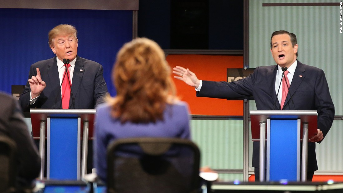 "Republican presidential candidates Donald Trump, left, and U.S. Sen. Ted Cruz participate in a debate Thursday, January 14, in North Charleston, South Carolina. <a href=""http://www.cnn.com/2016/01/14/politics/gallery/republican-debate-north-charleston/index.html"" target=""_blank"">Five other GOP candidates joined them on stage</a> in what was the party's sixth debate of this election cycle. During the event, Trump and Cruz <a href=""http://www.cnn.com/2016/01/15/politics/republican-debate-2016-recap/index.html"" target=""_blank"">dropped their buddy-buddy act</a> and argued over Cruz's Canadian birth and his denunciation of Trump's ""New York values."" After the debate, Trump told CNN's Dana Bash, ""I guess the bromance is over."""