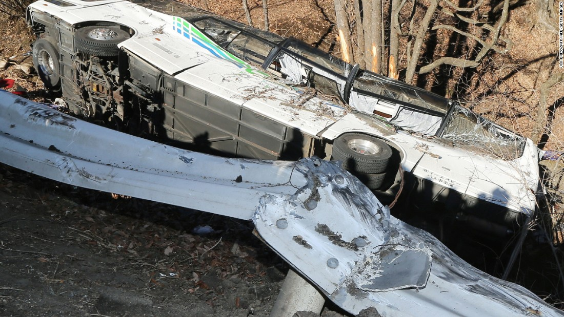 The bus crashed after running off the road on January 15, 2016. Fourteen people were killed and dozens injured.