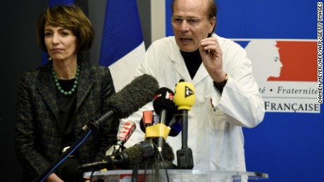 French Health Minister Marisol Touraine and neuroscientist Gilles Edan speak about the drug trial in January.