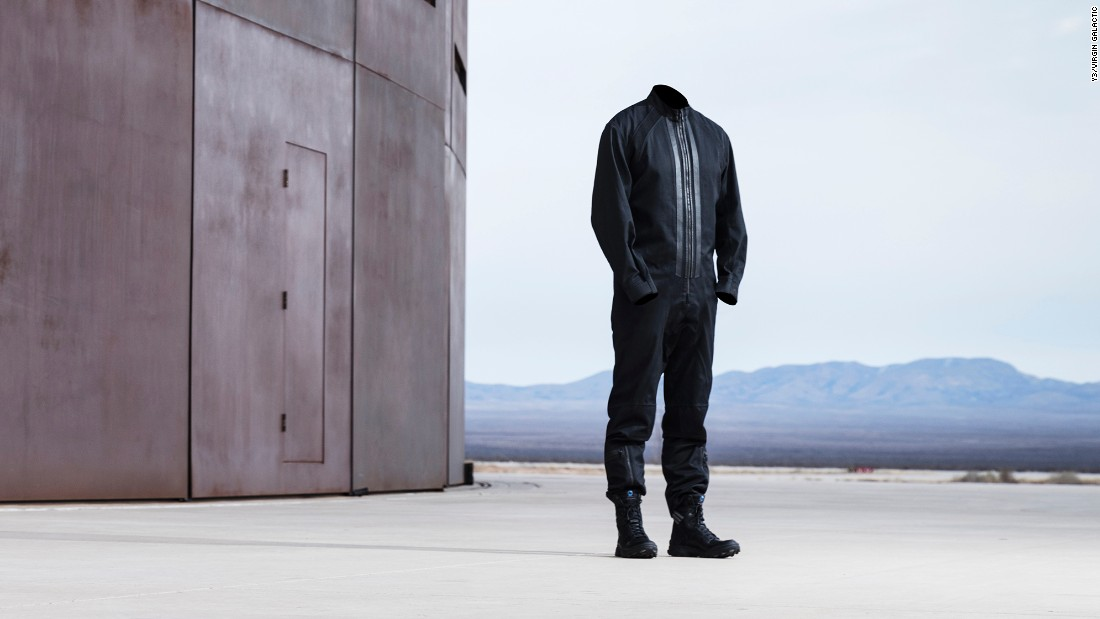 The line features prototypes of boots and a full-body suit.