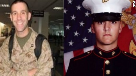 Maj. Shawn Campbell, left, and Cpl. Matthew Drown