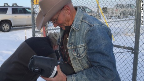 LaVoy Finicum took down what he claimed to be a government spy camera in Oregon on January 15.