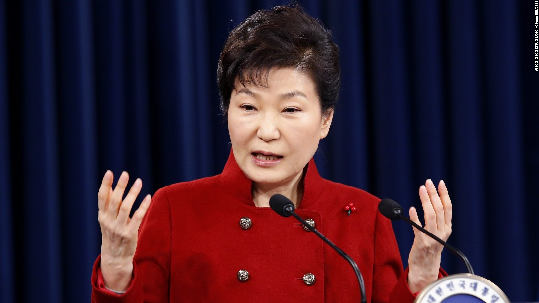 Park Geun-hye, 63, was elected President of South Korea in 2013. She is the daughter of former South Korean President Park Chung-hee and is the first female to hold the leadership position.