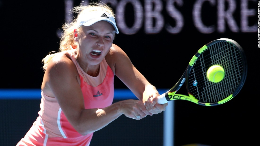 Former world No. 1 Caroline Wozniacki crashed out of the tennis season's opening grand slam after a shock defeat by Kazakhstan's Yulia Putintseva, ranked 58 places below the Dane.