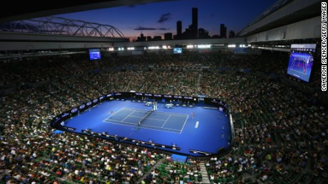 MELBOURNE, AUSTRALIA - JANUARY 18:  A general view during the first round match between Kristyna Pliskova of the Czech Republic and Samantha Stosur of Australia during day one of the 2016 Australian Open at Melbourne Park on January 18, 2016 in Melbourne, Australia.  (Photo by Cameron Spencer/Getty Images)