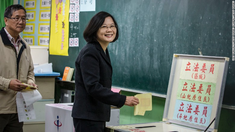 Taiwan elects its first female president