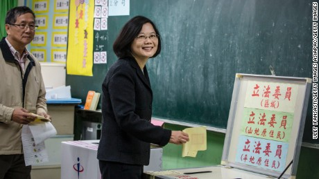 Taiwan's first female president