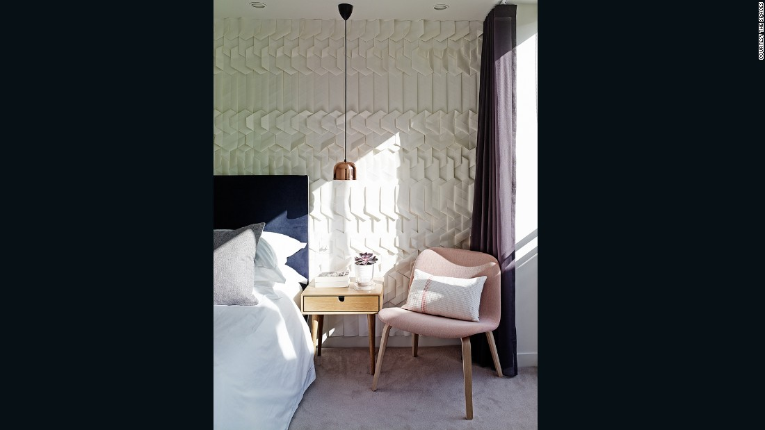 Tracey Tubb's origami wallpaper (seen here in a home designed by Field Day Studio) is another example of subtle texture.