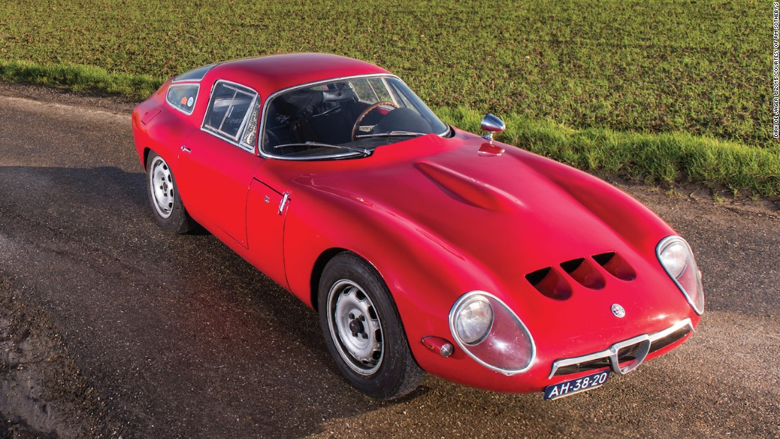 A landmark Alfa Romeo model with drop-dead Zagato coachwork, this car once raced in the Nürburgring 1,000 KM. Estimated auction sale price: $1 - $1.3 million (€950,000 - €1.2 million).