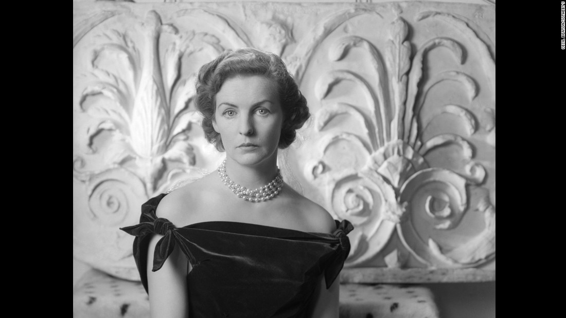 Throughout her life, the Duchess of Devonshire was at the heart of British high society. This formal portrait was taken by Cecil Beaton eight years after her marriage to Andrew Cavendish and 10 years before the couple moved to Chatsworth House.<br />