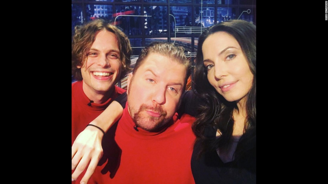 "Actor Nick Swardson, center, <a href=""https://www.instagram.com/p/BAiLd47StfZ/"" target=""_blank"">posted this selfie</a> with actor Matthew Gray Gubler and comedian Whitney Cummings on Thursday, January 14. They were appearing together on the television show ""@midnight."""
