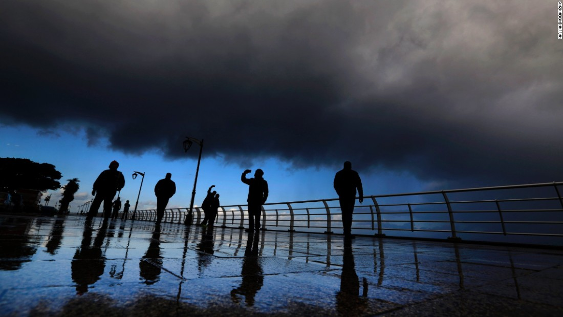 "People take selfies at the Corniche, a waterfront promenade in Beirut, Lebanon, on Tuesday, January 19. <a href=""http://www.cnn.com/2016/01/13/living/gallery/look-at-me-selfies-0113/index.html"" target=""_blank"">See 17 selfies from last week</a>"