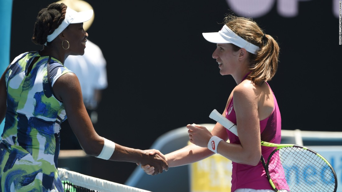 Zhang will next play another first-time quarterfinalist in world No. 47 Johanna Konta of Britain, who also caused a big first-round upset by beating seven-time grand slam champion Venus Williams.