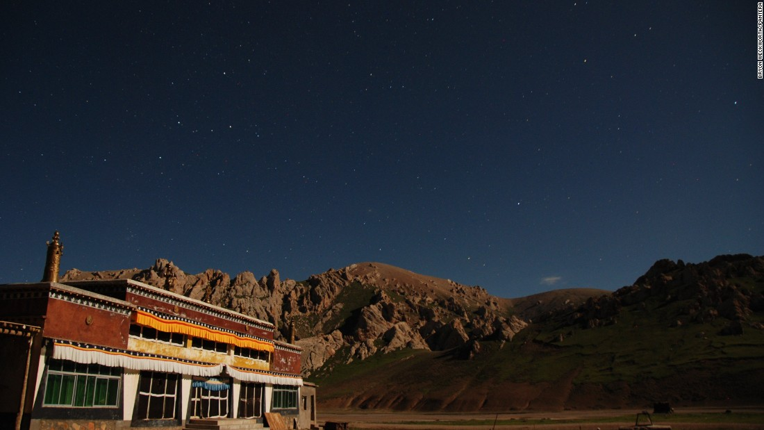 The night sky above Suojia monastery, Tibetan plateau, Qinghai province. Panthera has worked with Buddhist monks in the region to help monitor and protect the animals.