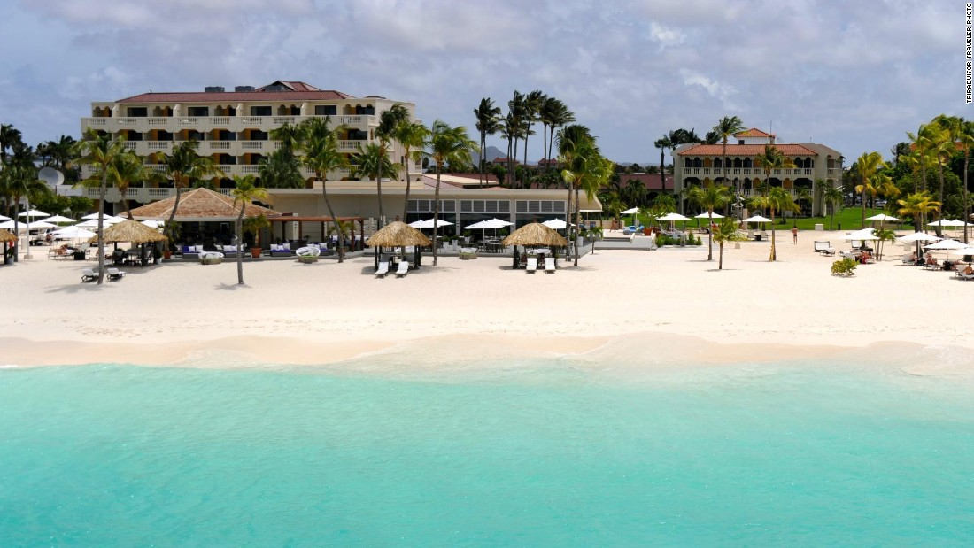 The eighth-ranked resort is situated along 14 acres of powder white sand.