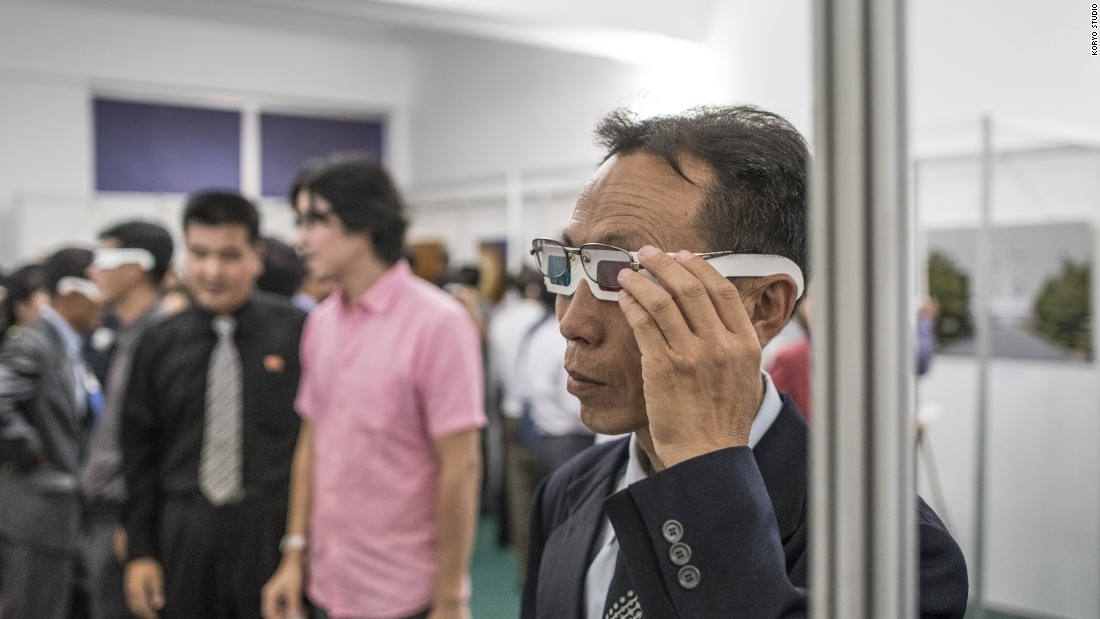 3DPRK is a collaborative 3D photography and documentary film project between photographer Matjaž Tančič and Beijing-based Koryo Studio, which specializes in North Korean art. Visitors to the exhibition in Pyongyang, were given 3D glasses to view the works.