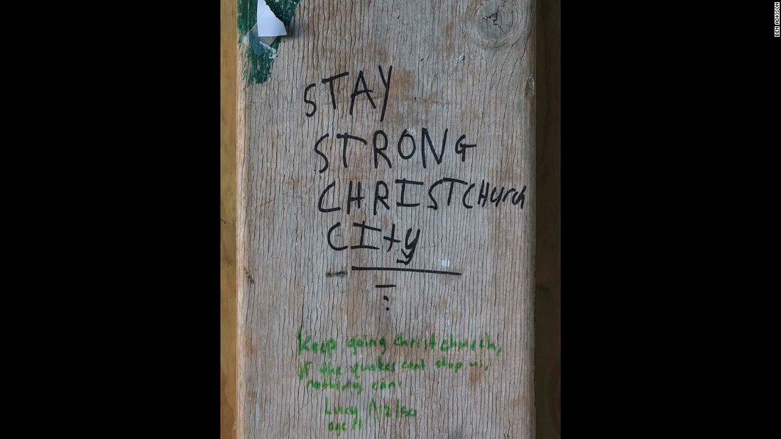 After the earthquake, support for the city poured in from around the world and small messages of encouragement can be found everywhere in Christchurch.