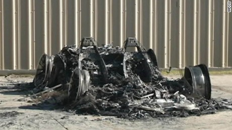 Lamborghini set ablaze after Confederate monument fight