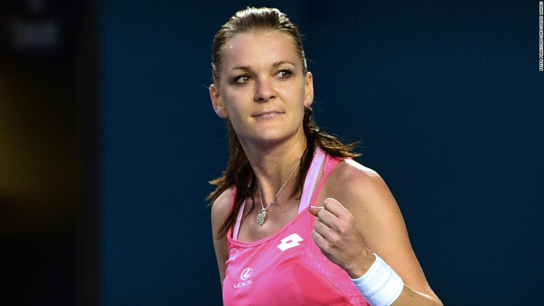 Agnieszka Radwanska of Poland overcame Canada's Eugenie Bouchard, cruising into the third round 6-4 6-2.