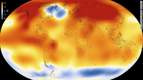 "This illustration obtained from NASA on January 20, 2016 shows that 2015 was the warmest year since modern record-keeping began in 1880, according to a new analysis by NASAs Goddard Institute for Space Studies.  Blistering heat blanketed the Earth last year like never before, making 2015 by far the hottest year in modern times and raising new concerns about the accelerating pace of climate change.Not only was 2015 the warmest worldwide since 1880, it shattered the previous record held in 2014 by the widest margin ever observed, said the report by the National Oceanic and Atmospheric Administration.  / AFP / AFP AND NASA/Visualization Studio/Goddard Space Flight Center / HANDOUT / RESTRICTED TO EDITORIAL USE - MANDATORY CREDIT ""AFP PHOTO /NASA /Scientific Visualization Studio/Goddard Space Flight Center / HANDOUT"" - NO MARKETING NO ADVERTISING CAMPAIGNS - DISTRIBUTED AS A SERVICE TO CLIENTS  HANDOUT/AFP/Getty Images"