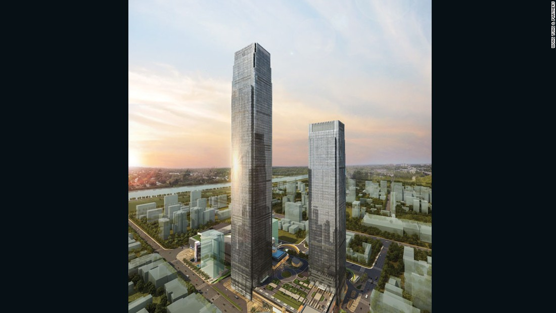 "Hotel and office hybrid, this straightforward supertall (> 1,000 feet) by <a href=""http://www.wongtung.com/e_intro.html"" target=""_blank"">Wong Tung & Partners</a> in Hunan Province's booming capital city is more than 100 meters (328 feet) off the mark set by Lotte World Tower. Still, transplanted to America, it would come in at second place after One World Trade Center.<em><br />Completion: 2017</em>"