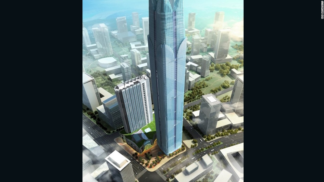 "This number from <a href=""http://www.dln.com.hk/"" target=""_blank"">Dennis Lau & Ng Chun Man Architects & Engineers</a> will climb 383 meters (1257 feet), topped by a helipad. The design mimics and simplifies the neo-Gothic spires of an earlier skyscraper boom à la the Woolworth and Empire State Buildings.<em><br />Completion: 2017</em>"