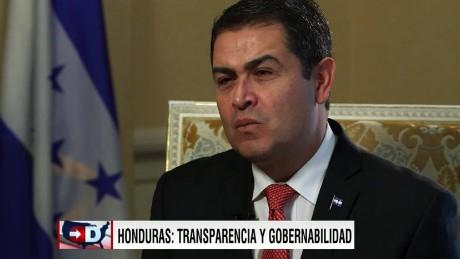 exp cnne president of Honduras interview _00002001