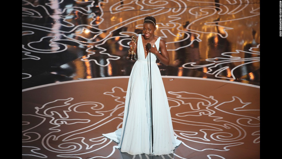 "Lupita Nyong'o won the best supporting actress Oscar in 2014 for her role in ""12 Years a Slave."""