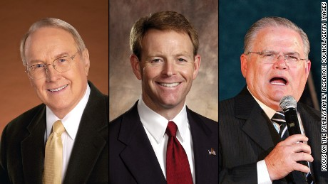 From left, James Dobson, 