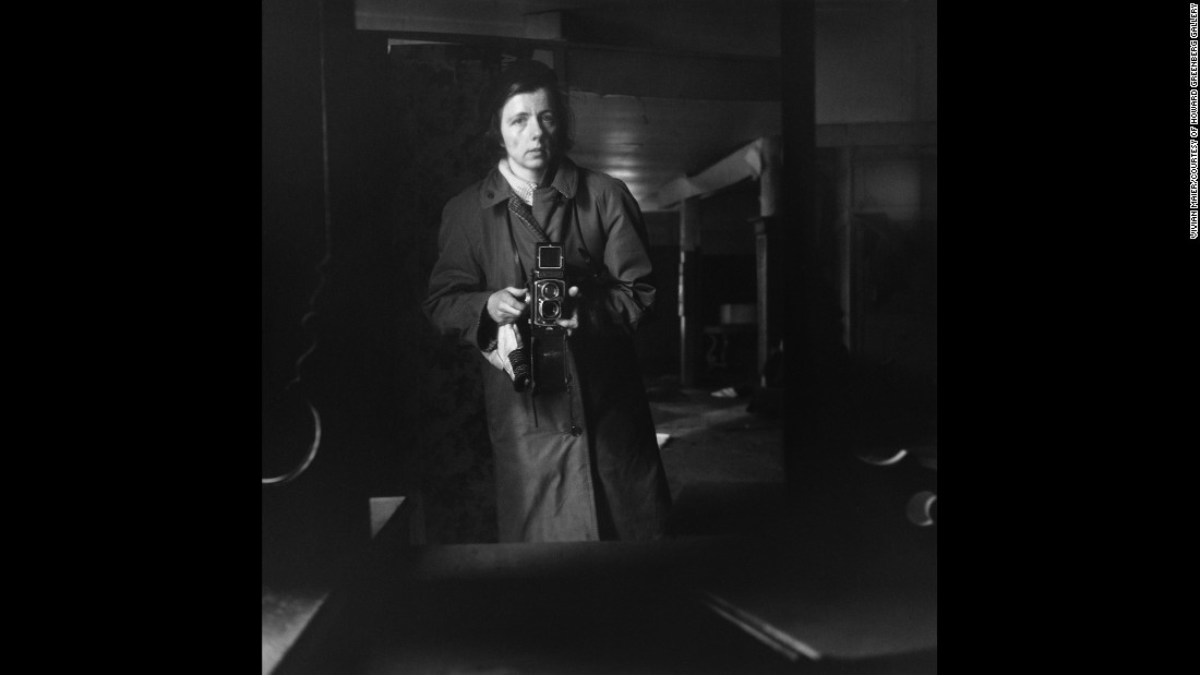 "Maier captured this self-portrait in 1963. We will never truly know what Maier's intention, if any, was when she took photos. But what has become apparent to most people who view her images around the world is that Maier was someone with a raw eye for documentation. ""She did it for herself,"" Maloof said. ""She did art for art's sake."""