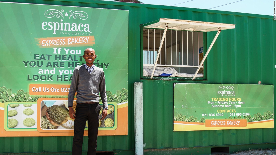 Lufefe Nomjana started his bakery business Espinaca Innovations with just R40 (less than $3) to his name. Now his expansion plans include a cafe and deli to capitalize on the growing tourism market.