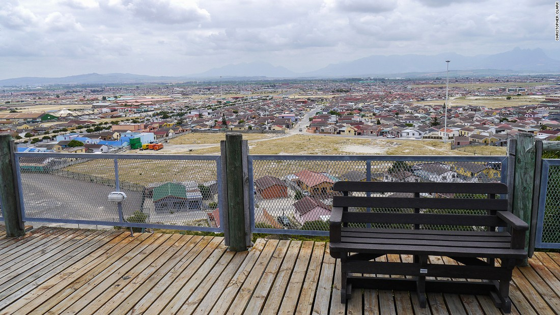 "Lookout Hill in Khayelitsha is the highest point of the aptly named Flats. The township's population is 99% black, while the median average income per family is half that of the <a href=""https://www.capetown.gov.za/en/stats/2011CensusSuburbs/2011_Census_CT_Suburb_Khayelitsha_Profile.pdf"" target=""_blank"">city's median average</a>."