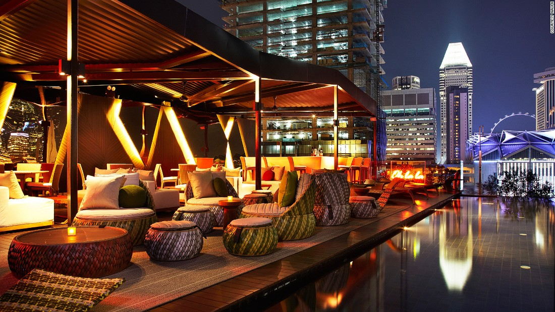 Naomi's exclusive Cloud 9 rooftop pool and bar is open to guests only. <br />