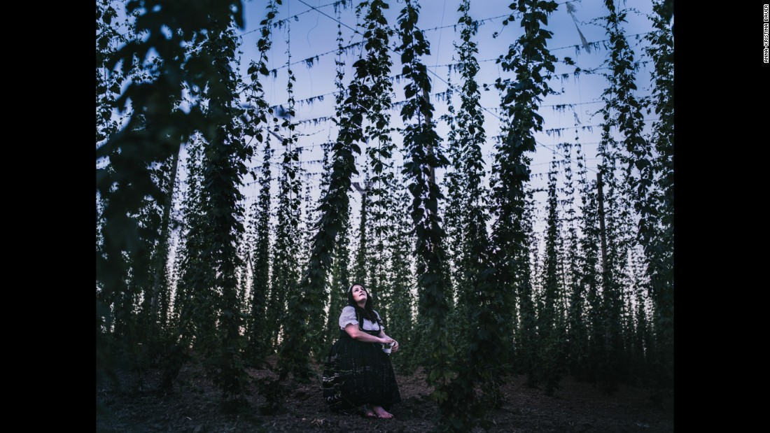 This portrait of the 2014-2015 Queen of the Hops was taken in a hop field in Siegenburg, Germany.