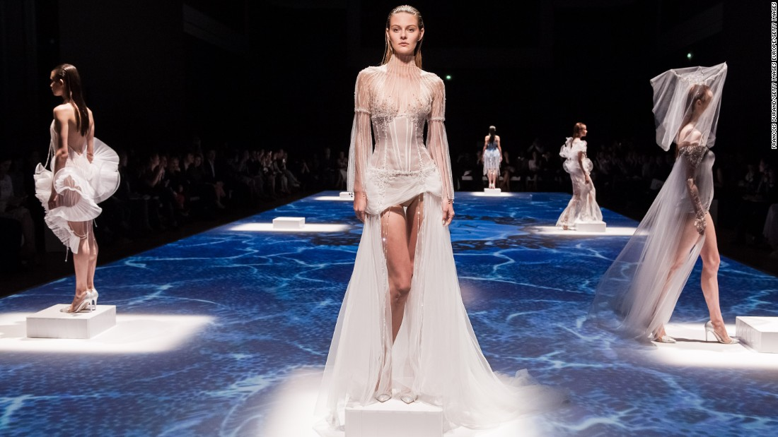There are about 30 haute couture shows in Paris, compared to 150 women's ready-to-wear shows each season.
