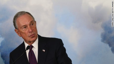 Former New York City Mayor Michael Bloomberg speaks at the Sierra Club April 8, 2015 in Washington, DC.