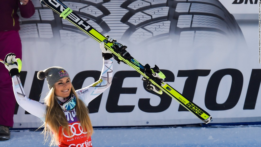The victory was Vonn's 37th in World Cup downhill races, more than any other skier.