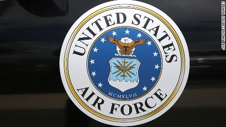 A United States Air Force decal is seen on the hearse during the funeral for retired Air Force Lt. Col. Eldridge Williams at the Sweet Home Missionary Baptist Church on July 21, 2015 in Miami, Florida.