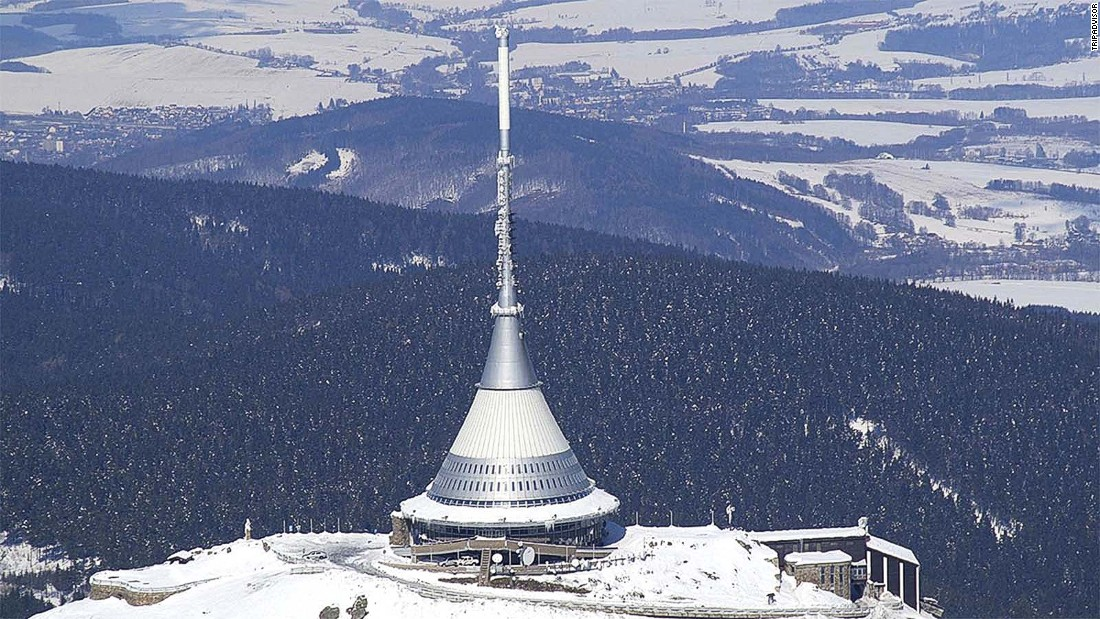 "Built in the 1960s, <a href=""http://www.tripadvisor.com/Hotel_Review-g274702-d277678-Reviews-Hotel_Jested-Liberec_Liberec_Region_Bohemia.html"" target=""_blank"">Hotel Jested</a> looks more like something from a sci-fi movie than a place to spend the night."
