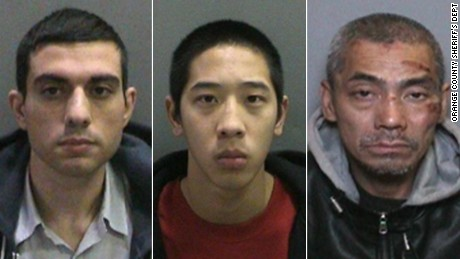 The three escapees, from left, are Hossein Nayeri, Jonathan Tieu, and Bac Tien Duong.