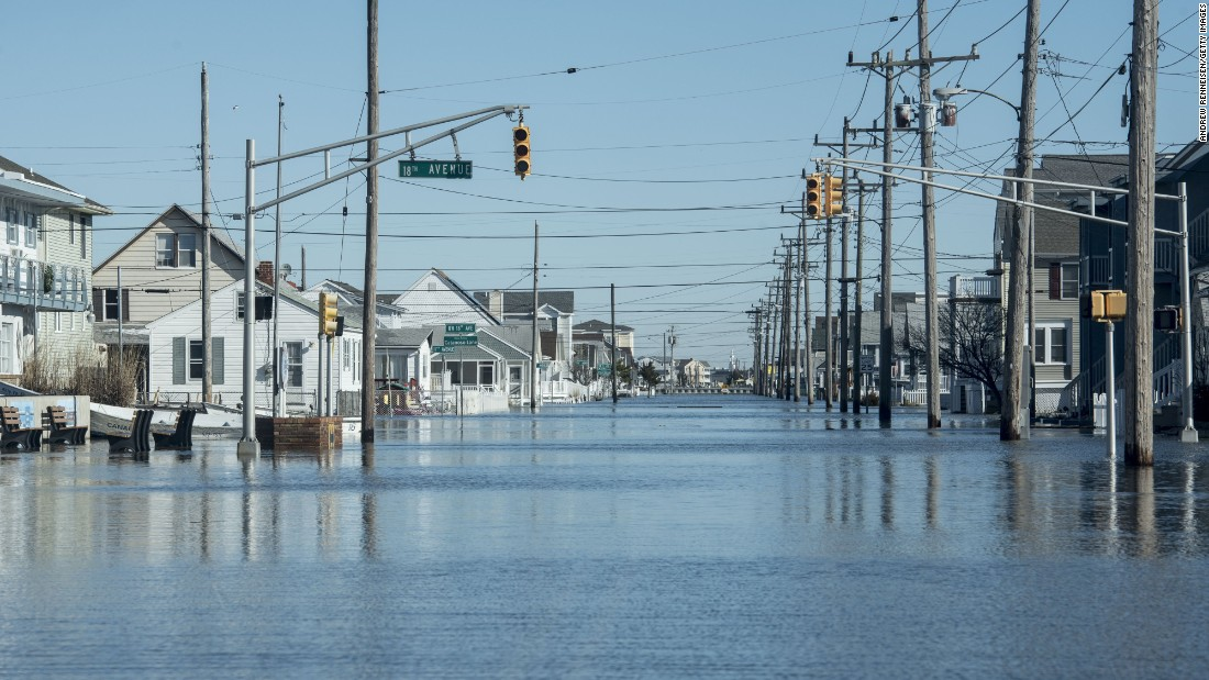 North Wildwood, New Jersey, experienced flooding from the storm.