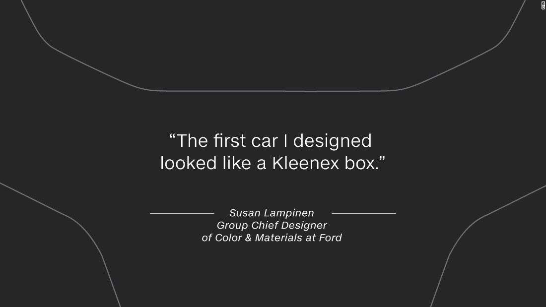 "She says it takes time to perfect the art of auto design: ""The first car I designed looked like a Kleenex box."""