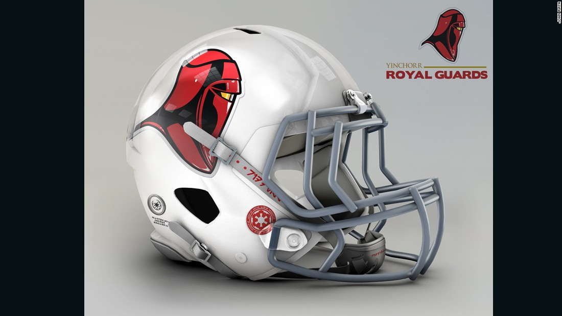 "The Royal Guards looking after Princess Padme Amidala in the prequels trilogy train at a special academy on planet Yinchorr, and their distinguished looks lend well to the <a href=""http://www.azcardinals.com/"" target=""_blank"">Arizona Cardinals</a> treatment."