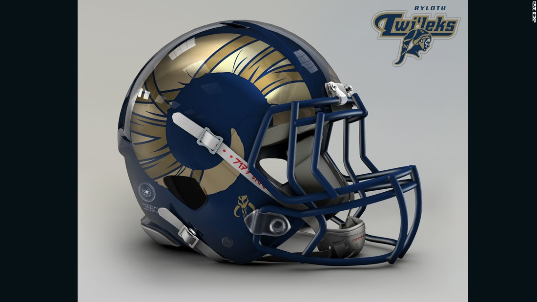 "Remember Bib Fortuna, the tall guy with a bunch of tentacles coming out of his skull who played sidekick to Jabba the Hutt? He's a Twi'lek, and the <a href=""http://www.stlouisrams.com/"" target=""_blank"">Los Angeles Rams</a> helmet has a design to match those unique features."