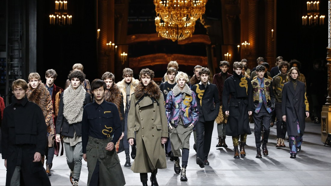 Dries Van Noten showed beautiful looks that were both poetic and pragmatic.