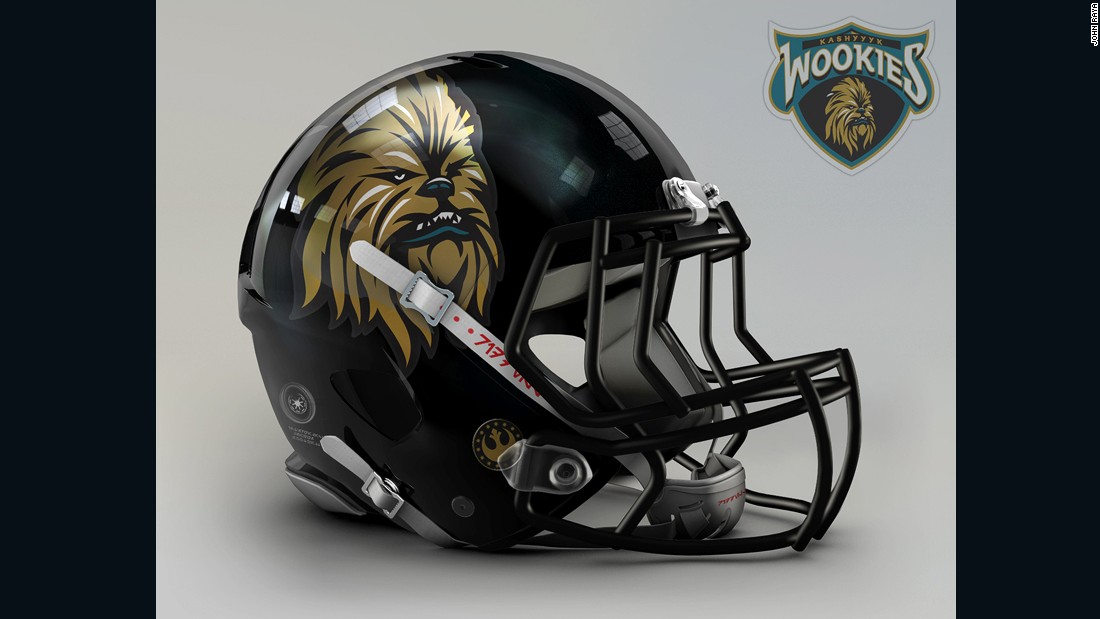 "Chewbacca was inspired by George Lucas' dog Indiana, an Alaskan Malamute, but with a bit of mental choreography it's not hard to see it replace a feline on the helmet of the <a href=""http://www.jaguars.com/"" target=""_blank"">Jacksonville Jaguars</a>."