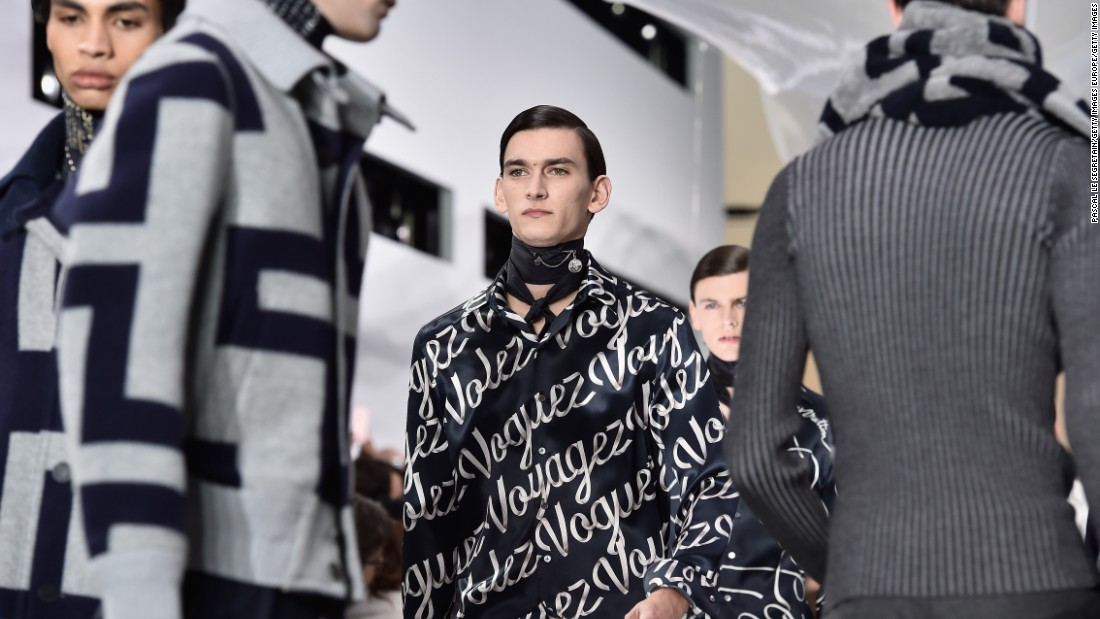At Louis Vuitton, artistic director Kim Jones continued to push the brand in a new and exciting direction, defined more by a fashion statement than the usual traveling wardrobe concept.