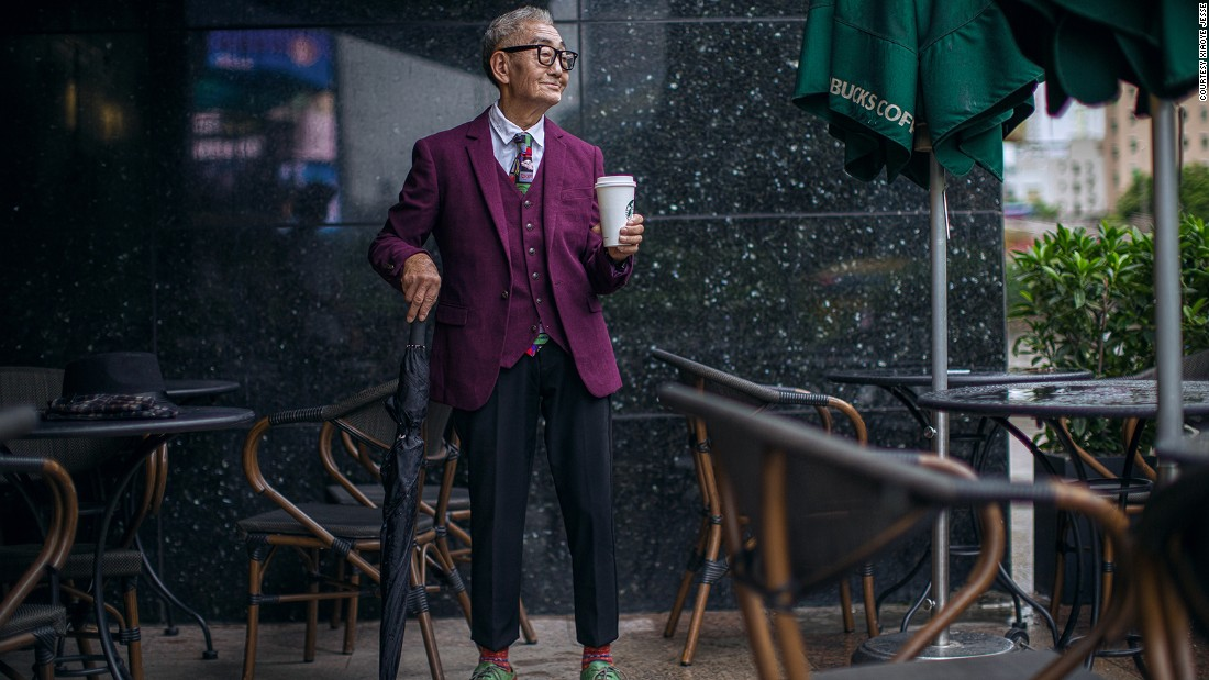Ding has drawn comparisons to Nick Wooster, the fifty something New York street-style star.