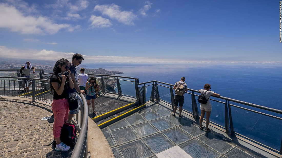 Cabo Girao's glass-floored viewing platform offers views down 1,900 feet to the Atlantic rollers below.